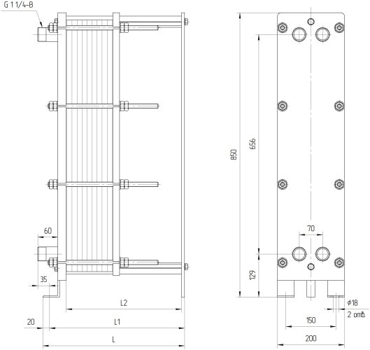 Теплообменник нн 8а ридан цена Пластины теплообменника Alfa Laval M3-FG Саров